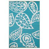 Found it at ZIZO - Paisley Aqua Rug in River Blue
