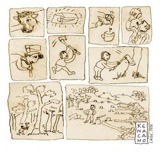Cultura tradicional, dibujos y otras artes del kenacano