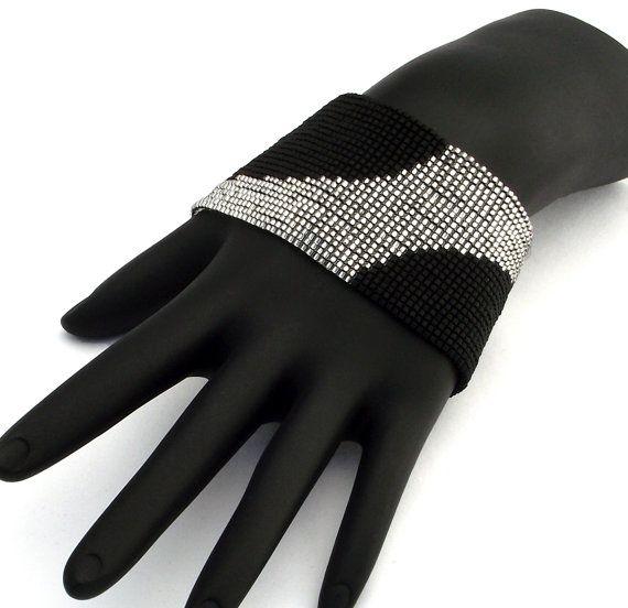 Pattern Swerve Beaded Bracelet Peyote by NeatBeading on Etsy