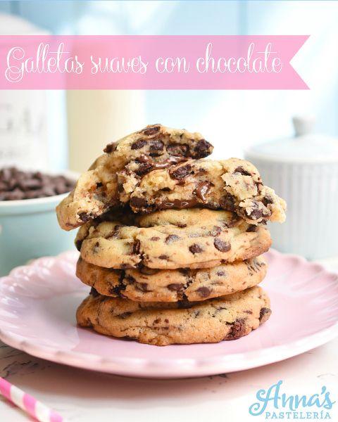 Galletas suaves de chocolate chips, una receta deliciosa de Anaisa Lopez del blog Annas Pasteleria - THE BEST Soft and chewy chocolate chip cookies recipe by annaspasteleria.com