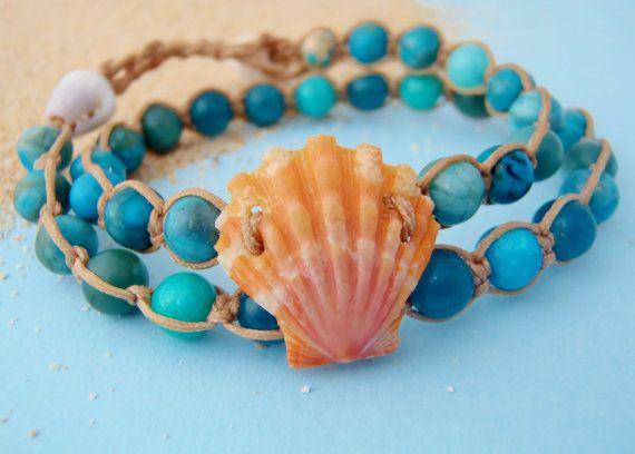 RARE Hawaiian Sunrise shell bracelet