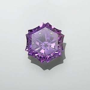 Brazilian Amethyst Incorporating Four Styles Of Gemstone Cutting - Snowflake-cut, Concave-Cut, Negative-Cut And Bubble-Cut With Traditional Flat Faceting ♥