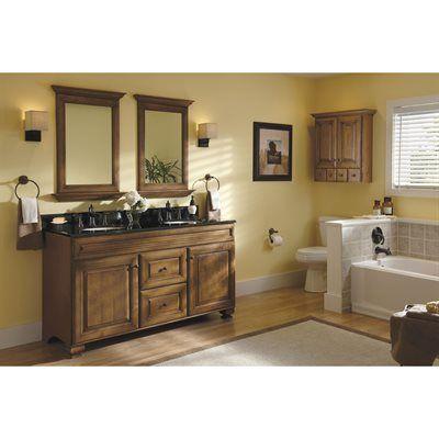 Allen + Roth 20J VSDB60 Ballantyne Mocha With Ebony Glaze Traditional  Bathroom Vanity