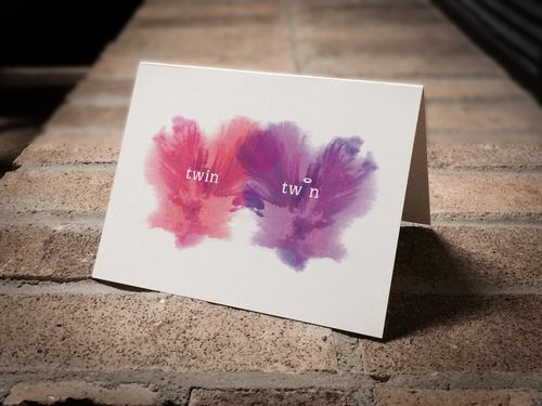 Condolence card for the loss of one twin. (girl/girl twins)