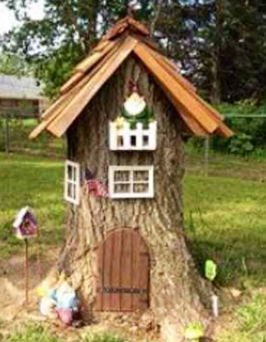 91 Best Images About Tree Stump Gnome Homes On Pinterest