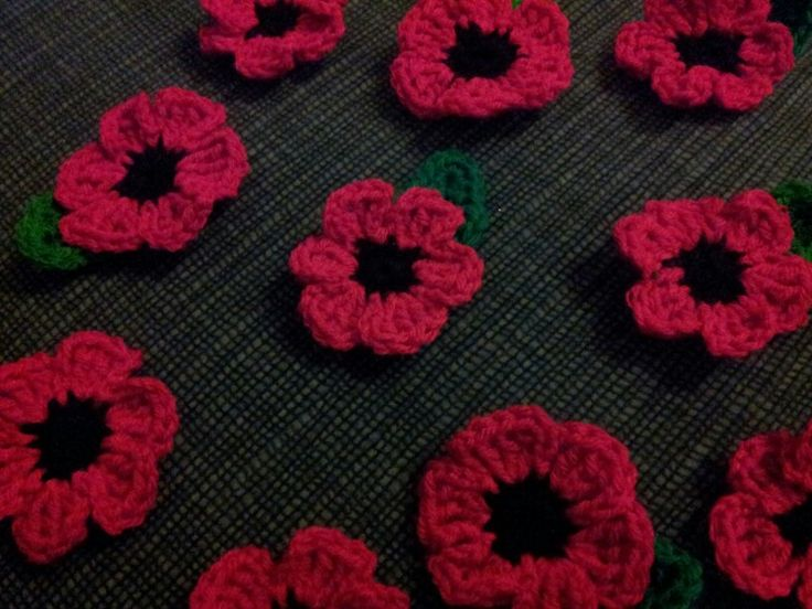 Knitted Poppy Pattern For British Legion : Crochet poppy brooches for Rememberance Sunday - Made by Me. Profits to The B...