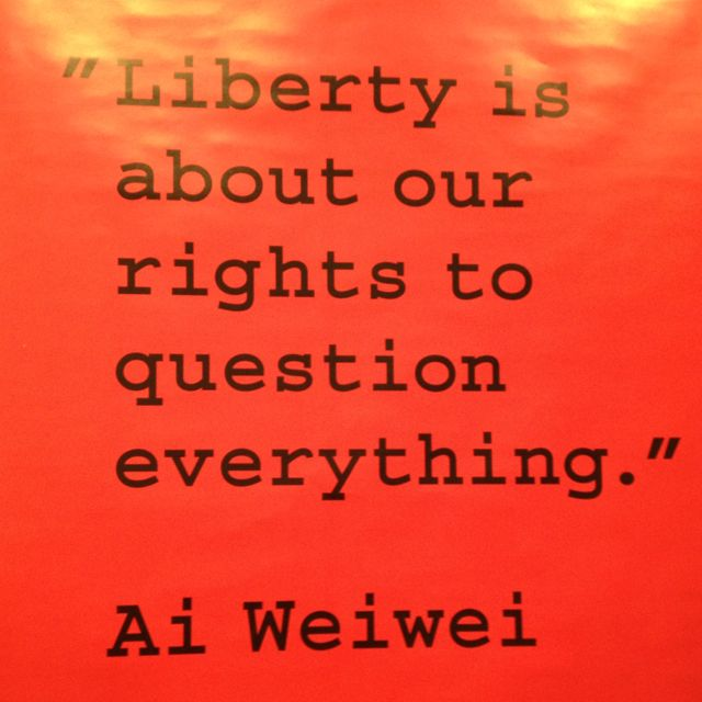 Freedom of the mind - Ai Wei Wei