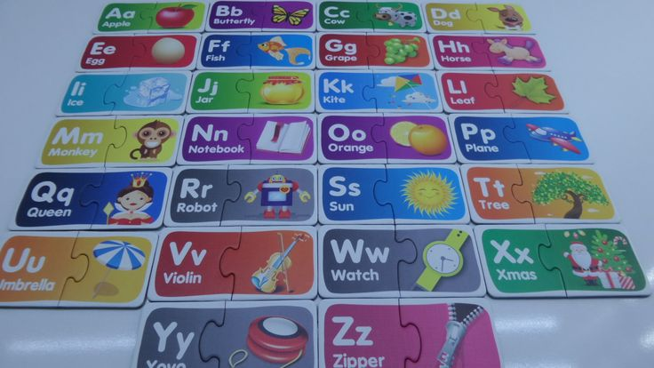 Visual Puzzle to learn the Alphabet (ABC) - Kinder Surprise Egg