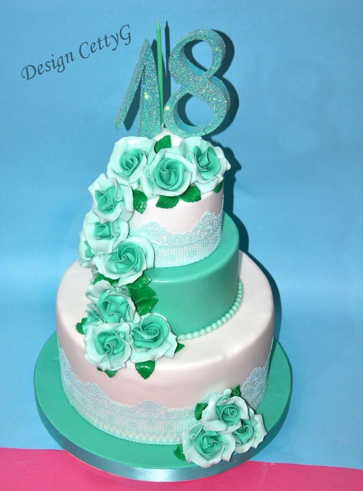 Le torte decorate di CettyG...: 18°Compleanno color Tiffany