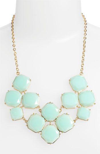 mint statement necklace