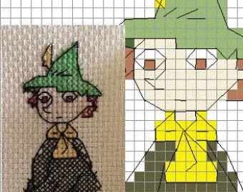 Snufkin Moomin Cross-Stitch Pattern: Sew It Yourself!