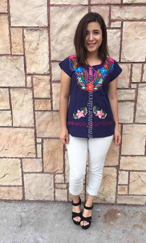 Mexican blouse kimona mexican top mexican party day of the