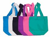 Wholesale cotton canvas tote bags for grocery, arts & crafts, promotional, shopping & resale needs