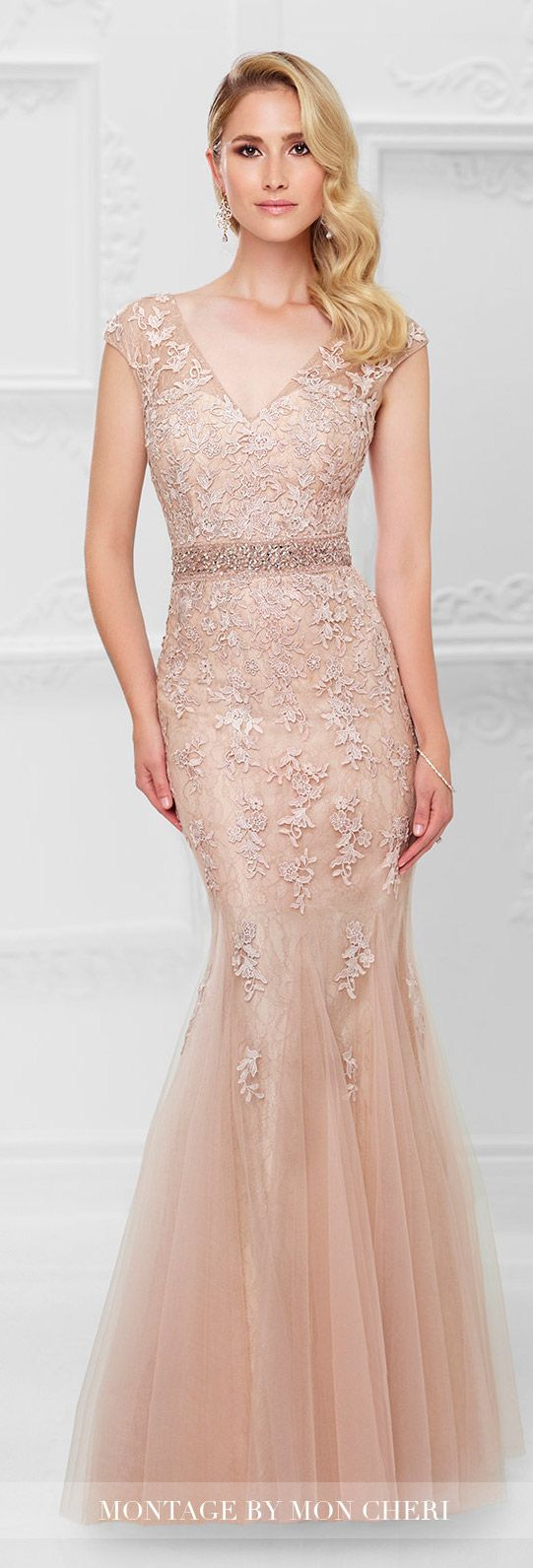 Formal Evening Dress by Mon Cheri Bridals Spring 2017 | Wedding Guest Gown