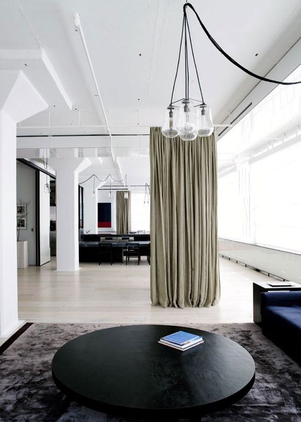 Tribeca Loft Fearon Hay Architects Small Space Curtain As A Divider