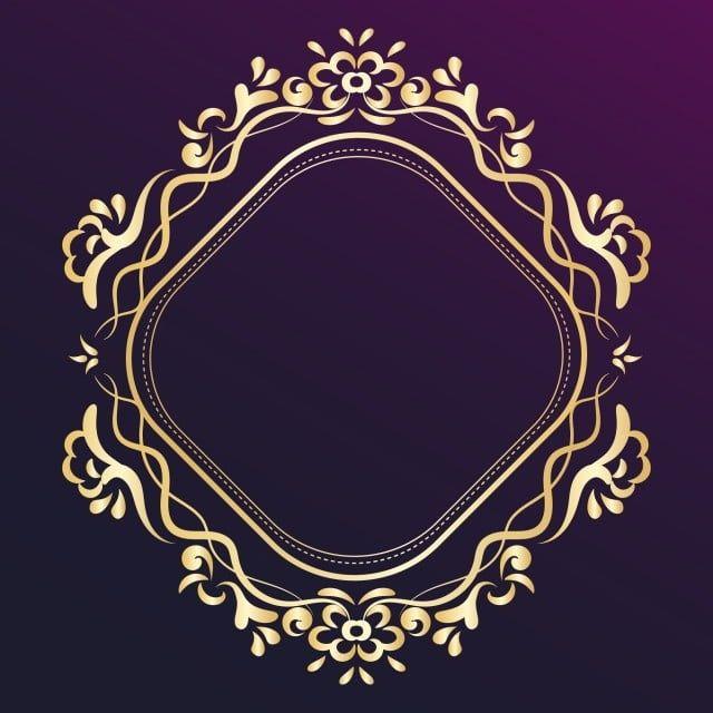 Elegant Royal Golden Ornamental Frame Vector Golden Gold Retro Png And Vector With Transparent Background For Free Download Circle Frames Wedding Card Frames Ornament Frame