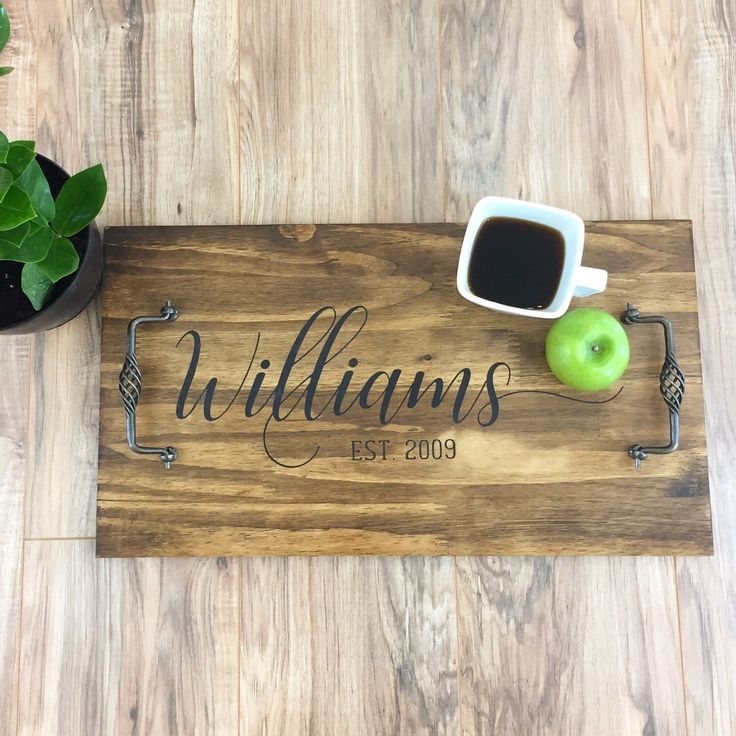 Serving Tray / Rustic Serving Tray / Farmhouse Decor / Wood Sign / Custom Tray / Custom Sign / Rustic Decor / Custom Dinner Tray / Tray by TheHomemadeFarmhouse on Etsy https://www.etsy.com/listing/509790673/serving-tray-rustic-serving-tray