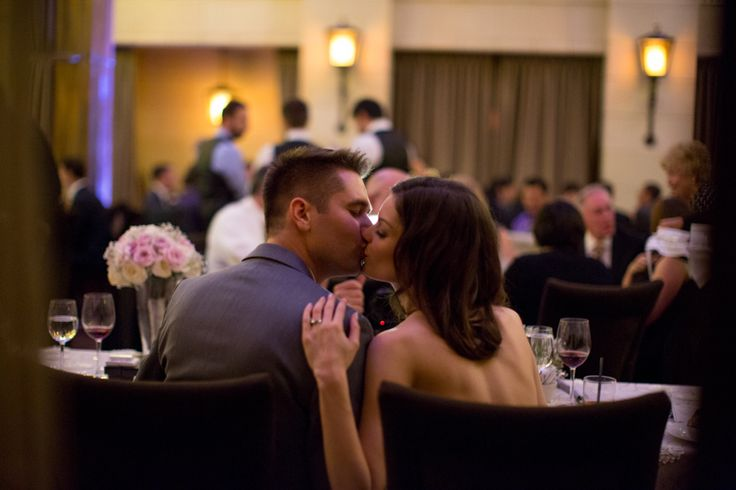 Windsor Arms Hotel wedding reception bride and groom kiss