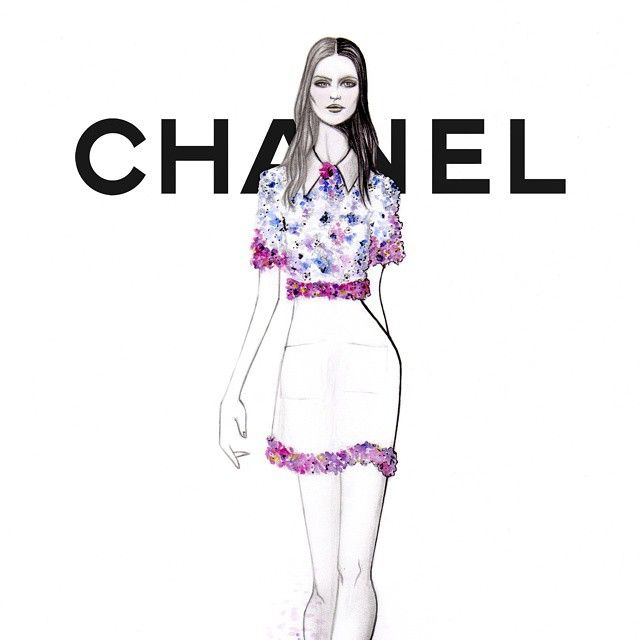 « CLOSE UP #Chanel SPRING 2015 #PFW by #GRACIANOfashionillustration »