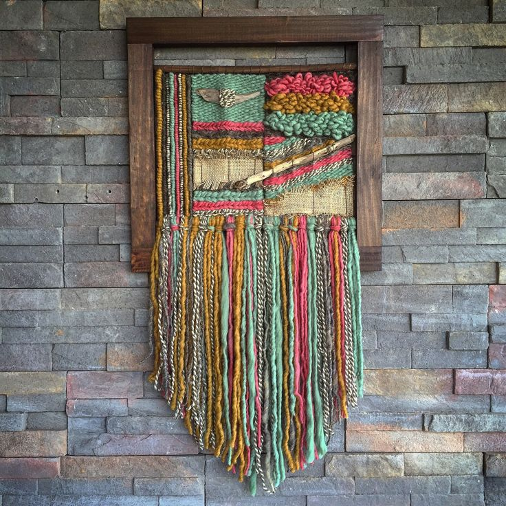 Woven wall hanging by Telaresyflecos on Etsy https://www.etsy.com/listing/384858440/woven-wall-hanging