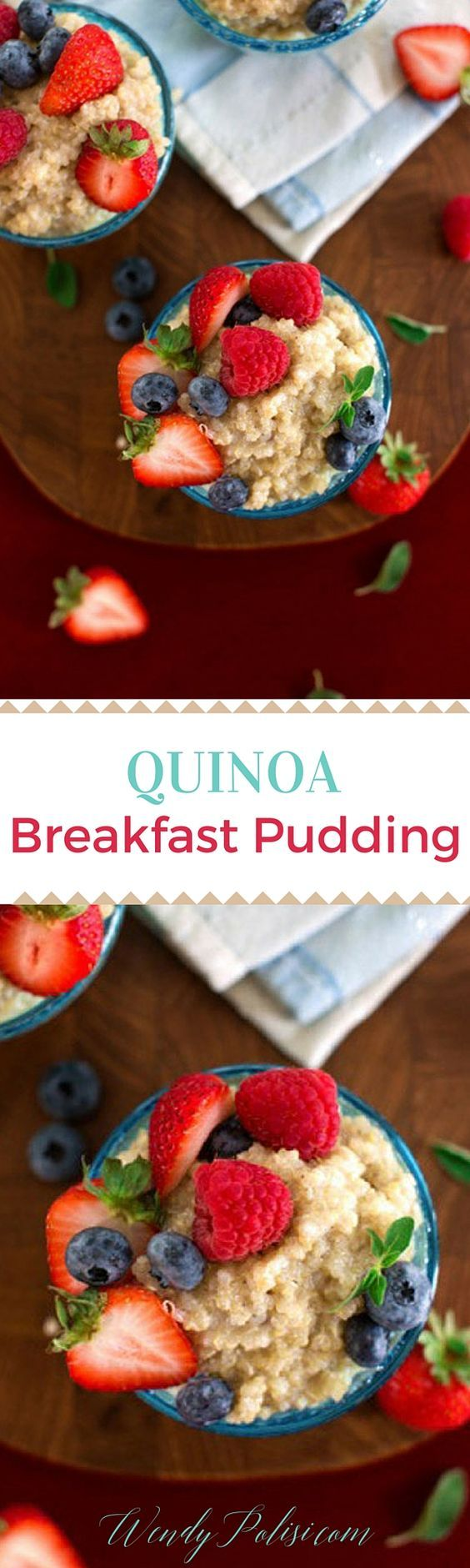 Quinoa Breakfast Pudding - This quinoa breakfast pudding is the perfect healthy recipe to start your day off right.  Gluten free and vegan, this is a meal you can feel good about.
