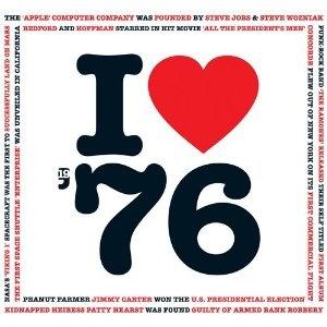 1976 I Heart Greeting Card and 1976 Chart Hits CD gift