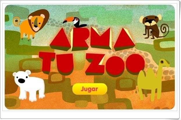 """""""Arma tu zoo"""", de discoverykids, juega a situar los animales en su hábitat dentro del parque zoológico, además de familiarizar a los más pequeños con la numeración. Sencillo juego para niños a partir de 5 años."""
