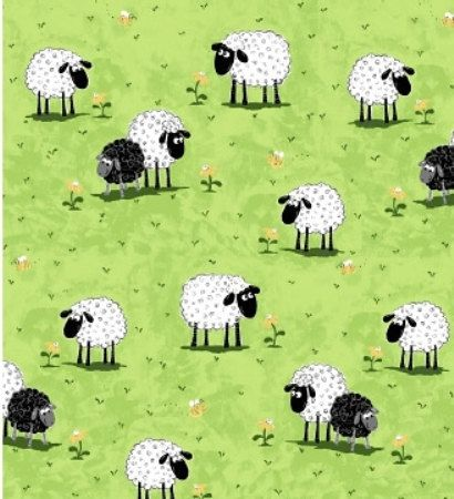 "SHEEP Lewe on Green Pasture ~ LEWE the EWE Sheep ~ 100% Cotton Coordinating Fabric ~ 1/2 Yard Cut ~ 18"" x 44"" by Susybee Fabrics on Etsy, $5.00"