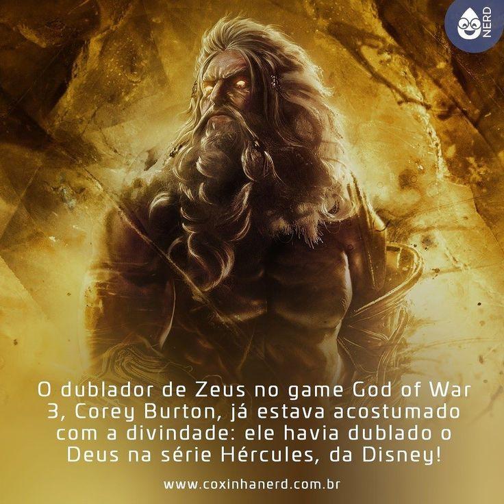 #CoxinhaCuriosa O dublador de Zeus no game God of War 3 Corey Burton já estava acostumado com a divindade: ele havia dublado o Deus na série Hércules da Disney! [Imagem Zeus em God of War em cores douradas] #timelineacessivel #pracegover   TAGS: #coxinhanerd #nerd #geek #geekstuff #geekart #nerd #nerdquote #geekquote #curiosidadesnerds #curiosidadesgeeks #coxinhanerd #coxinhagames #games #jogos #godofwar #zeus #coreyburton #godofwar3 #hercules #disney