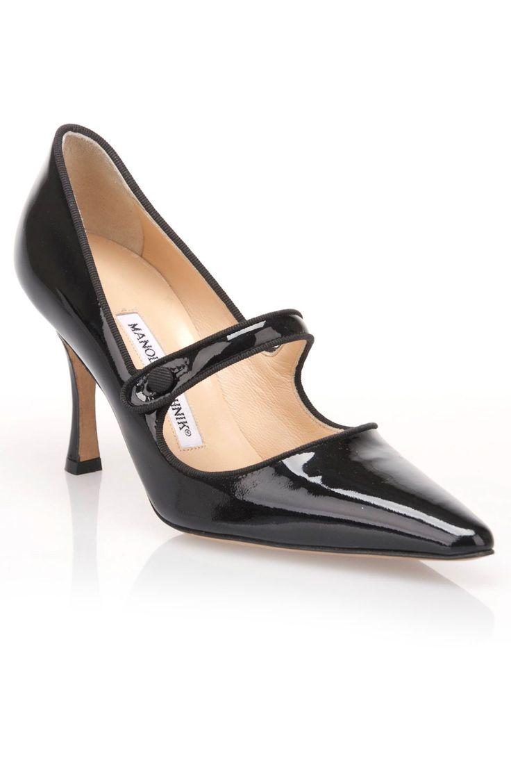 Manolo Blahnik - Campari Patent Pumps in Black