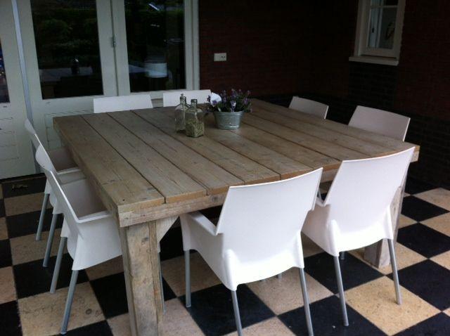 Tafel vierkant pannekoekhuis keuken pinterest for Table 140x140