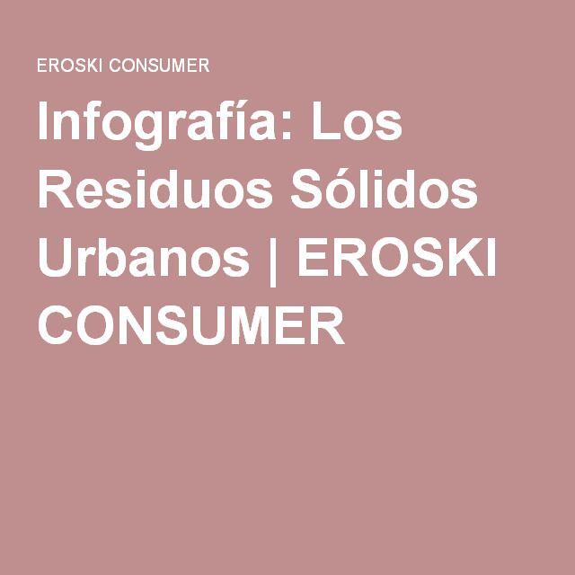 Infografía: Los Residuos Sólidos Urbanos | EROSKI CONSUMER