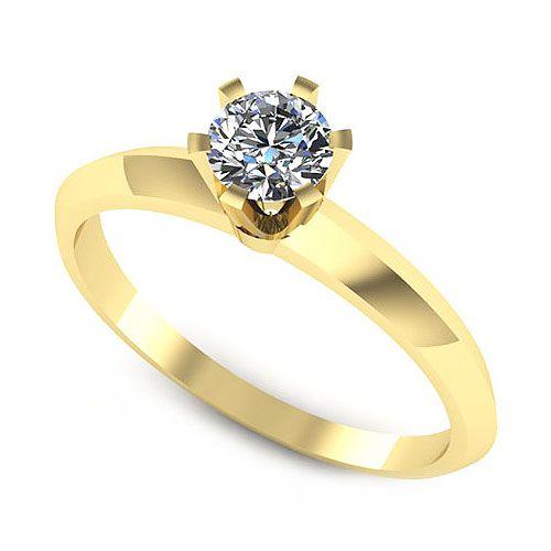 Inelul este format din:  * Piatra principala: 1 x diamant, dimensiune: ~4.50mm, greutate: 0.35ct , culoare: G; * Culoare: G, Claritate: VS2, forma: round, certificat: GIA