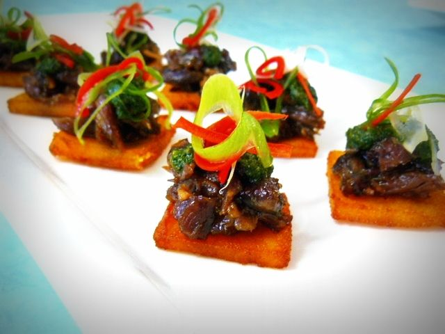 Crave Catering - lamb shank canape!