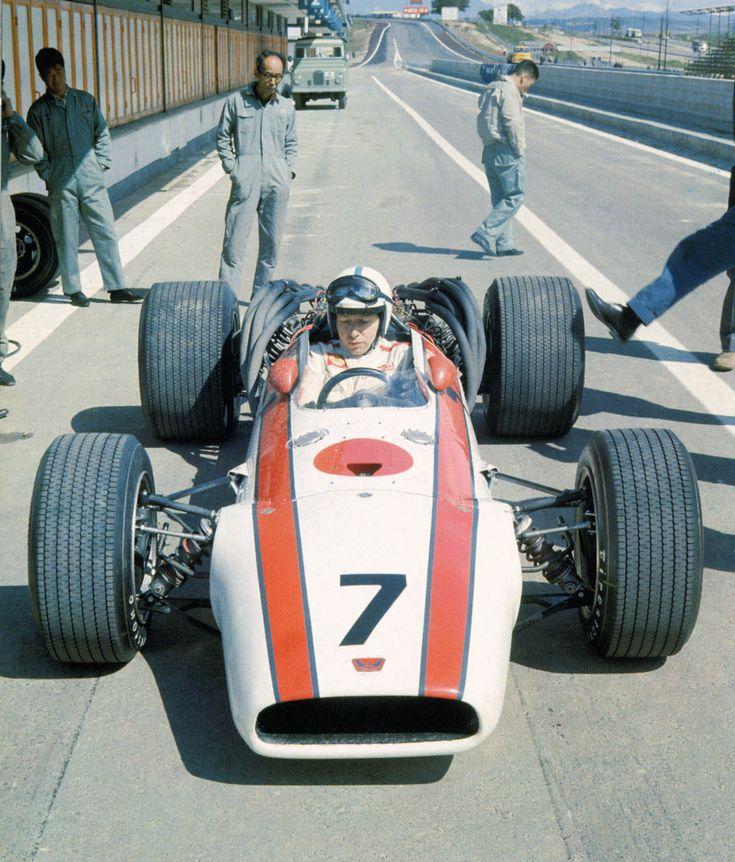 pinterest.com/fra411 #vintage #formula1 - John Surtees, Jarama, 1968.