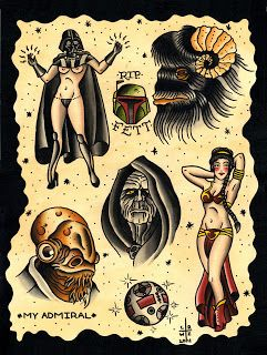 Thinking about doing my Star Wars sleeve Ed Hardy style...
