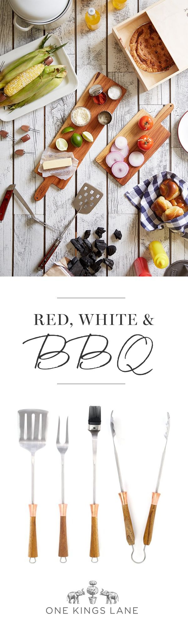 Whether you've been grilling since January or just getting fired up,  there's nothing like a classic summer barbecue spread.  Find all the fresh ingredients at One Kings Lane.