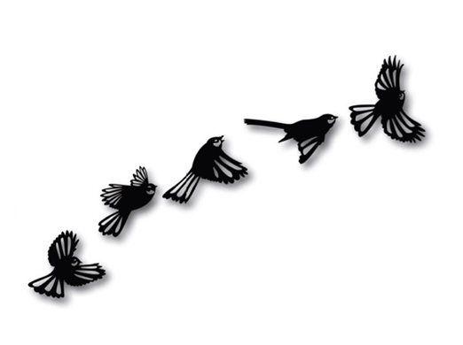 nzcanvaslounge - FLYING FLOCK OF FANTAILS