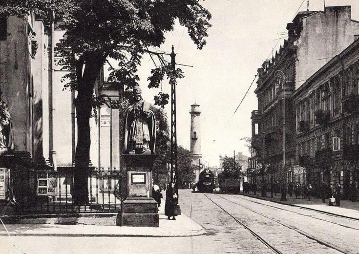 Warszawa międzywojenna - Chłodna w kierunku Hal Mirowskich (1932)