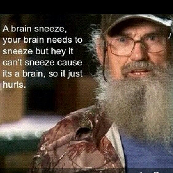 Uncle Si's logic ... This show is amazing!