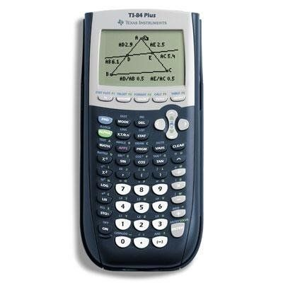 The Texas Instruments Plus Graphing Calculator Offers A Large Display For Showing Graphs And Charts
