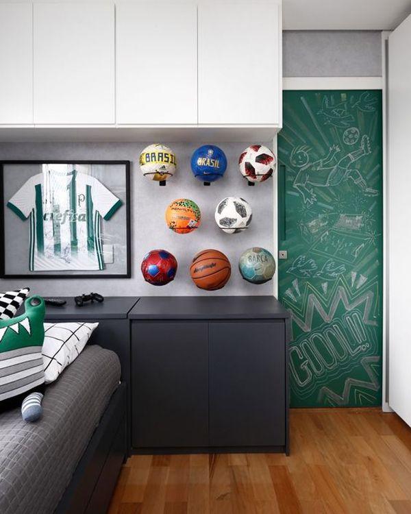 35 Coolest Soccer Themed Bedroom Ideas For Boys House Design And Decor Soccer Bedroom Soccer Themed Bedroom Football Bedroom