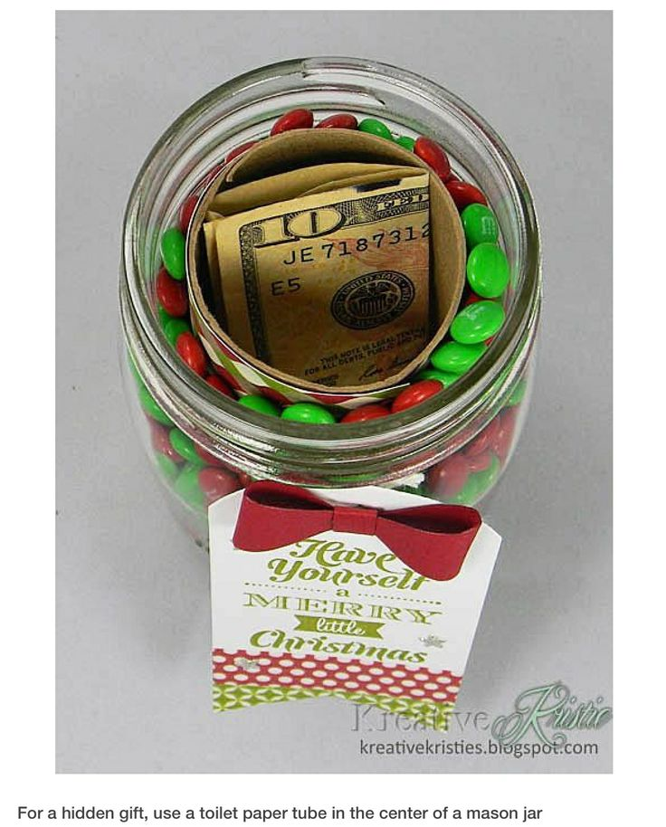 Cute way to gift money! Put lotto tickets in the middle instead...gift exchange idea!