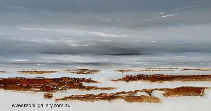 "Katherine Wood ""Vast Mysterious World 4"" 160x100cm. 61 Musgrave Road, Red Hill, Brisbane, QLD Australia. art@redhillgallery.com.au"