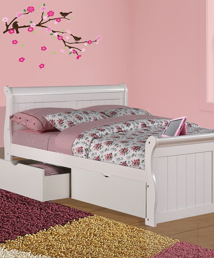 another great find on zulily white sleigh bed under bed drawer set by donco kids. Black Bedroom Furniture Sets. Home Design Ideas