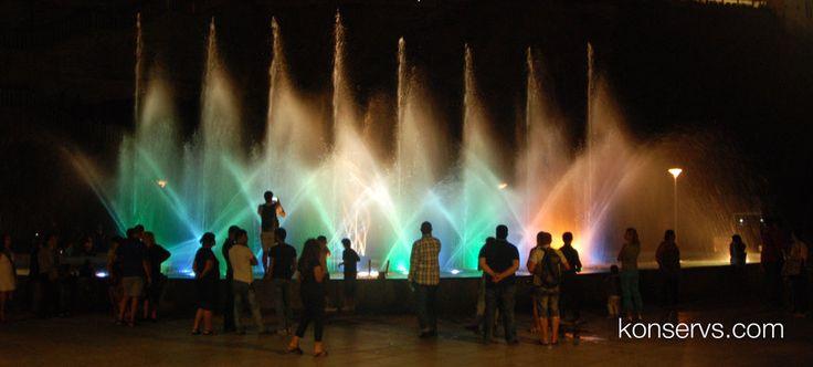 Музыкальный фонтан в парке Рике