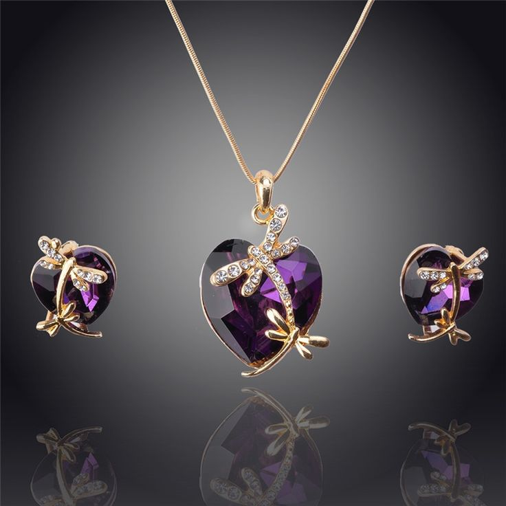 ~*~ Women 14k #Gold Filled Austrian #Crystal Animal Pendant Four colors #Necklace ~*~