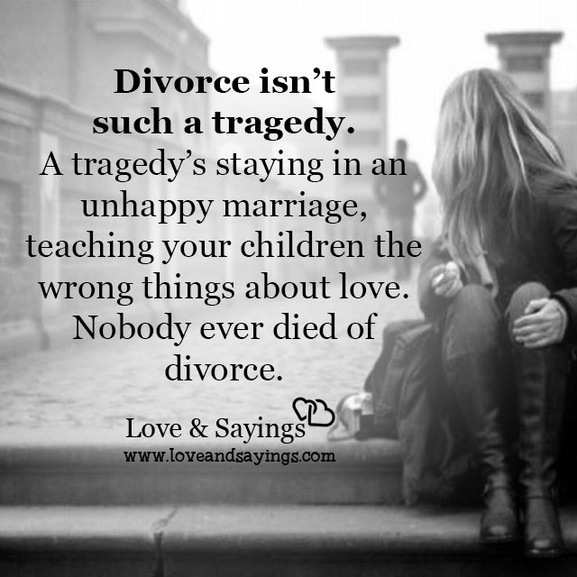 A tragedy's staying in an unhappy marriage