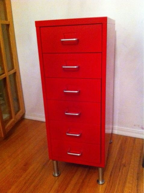 This is a hack for a metal night stand with Ikea furniture, but I could