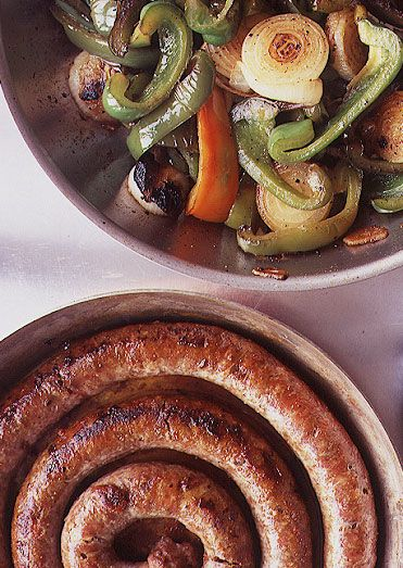 Sausage, Peppers and Onions Recipe - Saveur.com